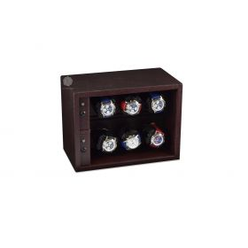 Scatola del Tempo Chocolate Cornice 6RT XXL Compact Watch Winder