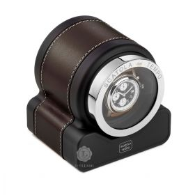 Scatola del Tempo Plain Chocolate Rotor One Hdg Watch Winder