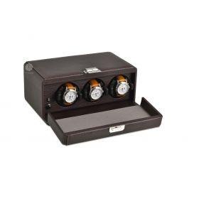 Scatola del Tempo Chocolate 3RT Over Size Watch Winder