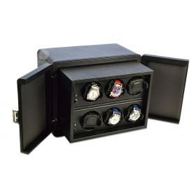 Scatola del Tempo Black 6RT Over Size Watch Winder