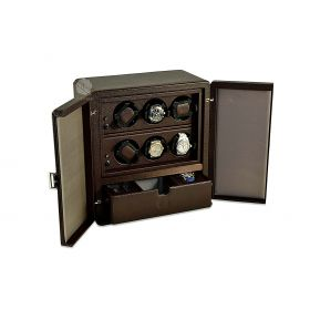 Scatola del Tempo Chocolate 6RT SP Over Size Watch Winder