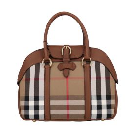 Burberry Large House Check Bowling Bag
