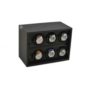 Scatola del Tempo Black Cornice 6 Over Size Watch Winder
