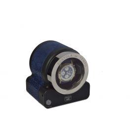 Scatola del Tempo Nabuk Blue Rotor One Hdg Watch Winder