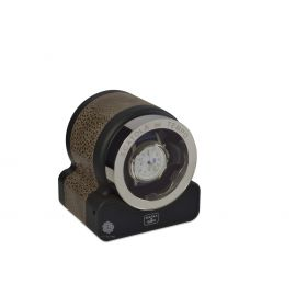 Scatola del Tempo Nabuk Brown Rotor One Hdg Watch Winder
