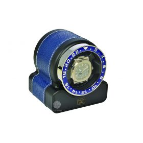 Scatola del Tempo Navy Blue Rotor One Sport Watch Winder