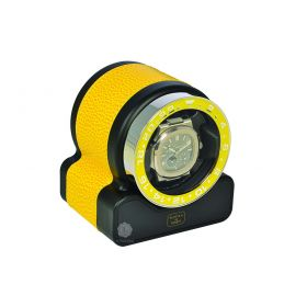 Scatola del Tempo Yellow Rotor One Sport Watch Winder
