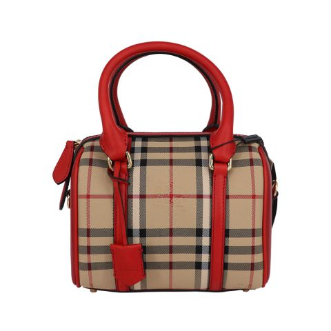 Burberry Small Horseferry Check Alchester Bowling Bag